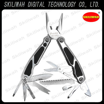 ProsKit MS-526 12-in-1Multi-Tool With Spring Loaded Pliers Head with LED flashlight+ 10 Useful Tools