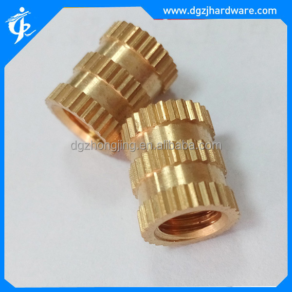 threaded insert brass nut for injection-molded plastic