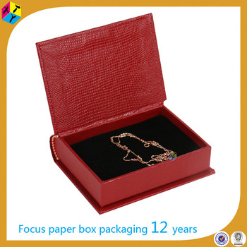 book like packging black jewellery box