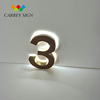 Small stianless steel backlit house numbers letters