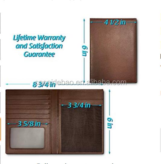 Custom RFID Blocking Leather Passport Holder For Men and Women
