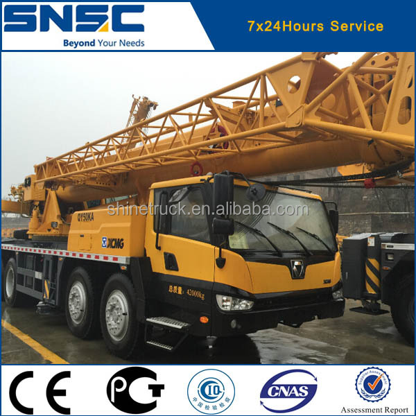 4sets of xcmg QY50KA truck crane exported to algeria on Dec.2015