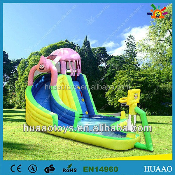 2015 giant inflatable inflatable water slide for sale