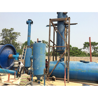 waste tyre to fuel recycle machine waste plastic recycling line with no pollution