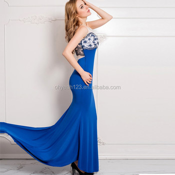 Wholesale latest design evening long dress