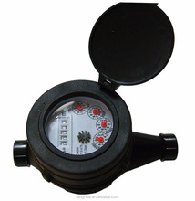 R=80 type multi- jet plastic body with external adjustment cold water meter