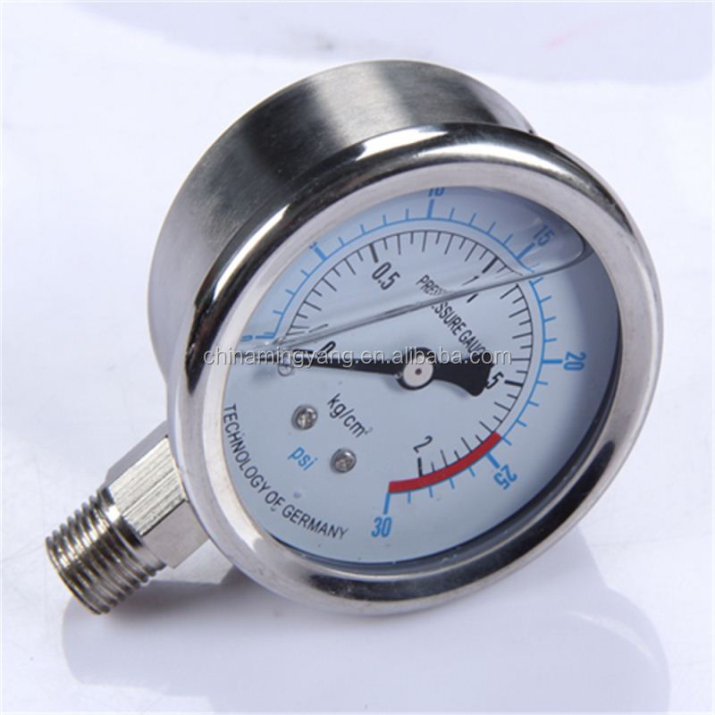 Specially designed Hot Sale High Quality clear to read single tube manometer steam boiler pressure gauge