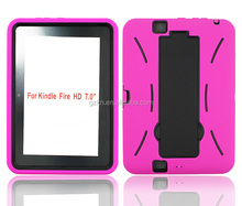 Kickstand high impact rugged cover case for Kindle fire HD 7 inch