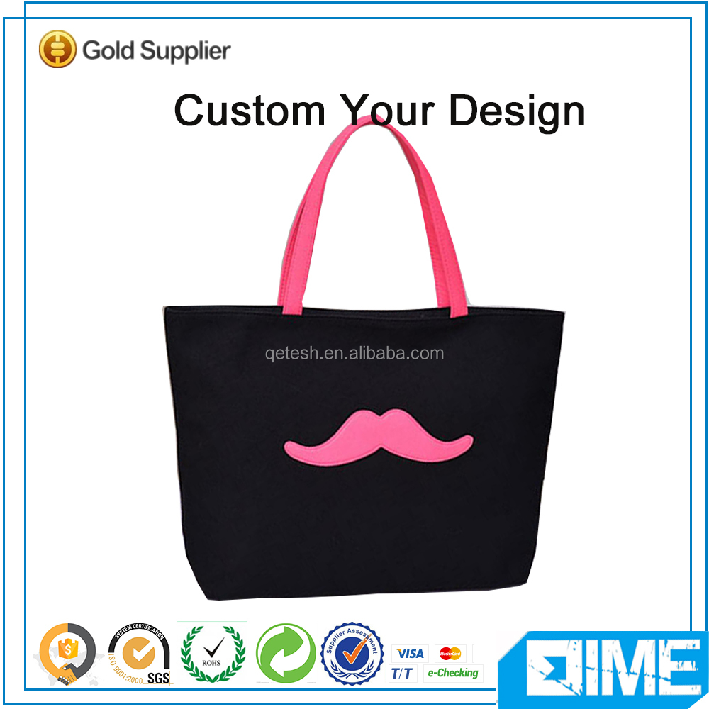 Sexy Pink Lip Custom Reusable Shopping Sling Tote Bag