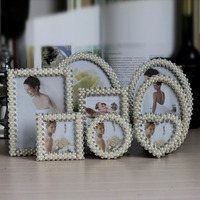 Wedding Gifts Photo Studio Gifts Pearls Photo Frame Zinc Alloy Picture Frame
