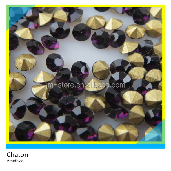 SS6-SS38 Amethyst Crystal Beads Stones Loose Pointback Chaton