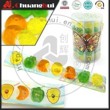 7 en 1 fruits forme Mini tasse de gelée / gelée de fruits 7 pcs bonbons en pot