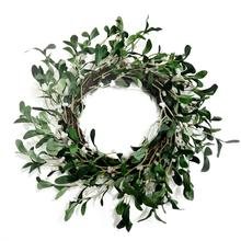 Artificial mistletoe wreath use for house with high quality decor spring