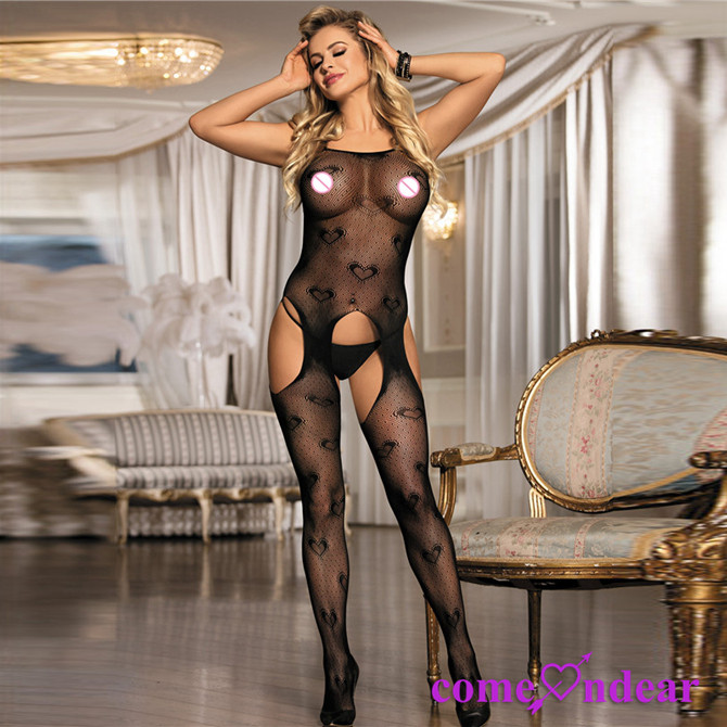 Wholesale High Elasticity In Stocking Sexy Night Full Body Black Sex Stocking