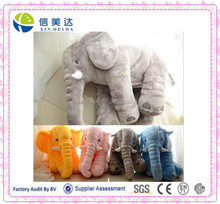 super soft long plush 60cm gray elephant pillow cushion for babay