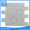 48x98 white polished brick pattern mosaic tile for kitchen backsplash