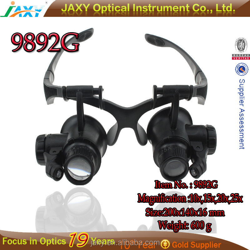 2015 9892G 10x /15x /20x /25x Magnifier Magnifying Eye Glasses with Loupe