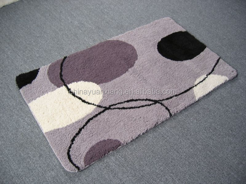 Tufting Non Skid Comfortable Thin Bath Mat