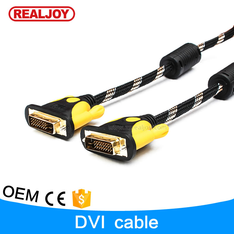 3m Dongguan factory nylon braided 24+1 pins computer DVI cable