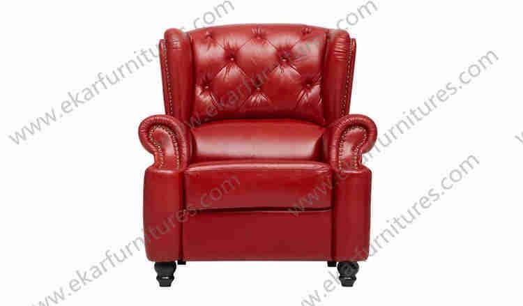 Italien coin salon rouge canap en cuir chesterfield canap chaise canap sal - Chaise chesterfield cuir ...