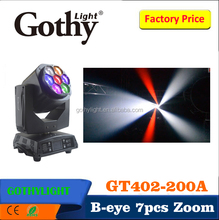 New product Gothylight Zoom 7x15w bee eye led moving head light
