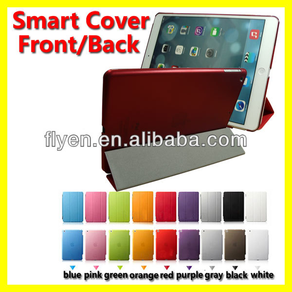 tri fold magnetic leather case stand for ipad air red smart cover best wholesale