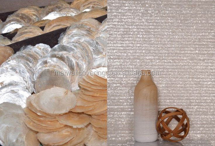 home wallpaper hand made shell wallcovering