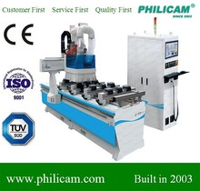 ATC side sawing drilling single arm cnc router for furniture