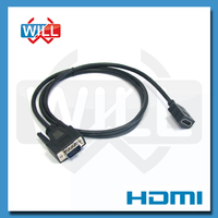 Male to Male Gold-plated VGA to HDMI Cable