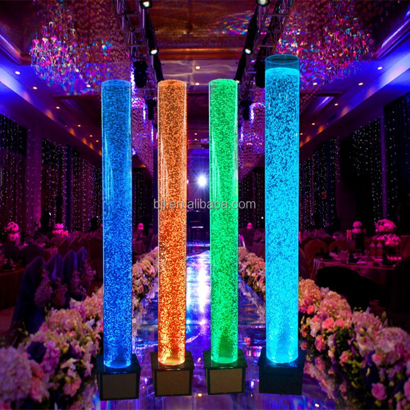 Childrens day lighting acrylic led water bubble tube stage decoration themes