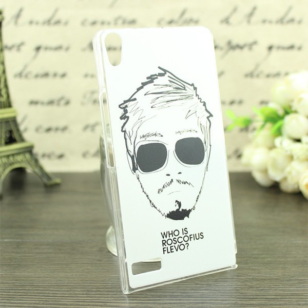 Plastic Painting Hard Back Skin Cover Case For Huawei Ascend P6
