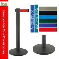 GZ MAX LG-A2 Black Color Mild Steel Retractable belt Barrier queue barrier