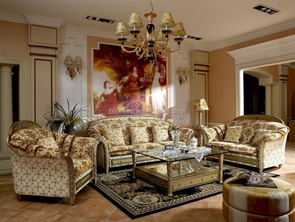 Bisini Royal European Romantic Style Luxury Golden Dresser, Dubai Gold Color Bedroom Dresser Furniture