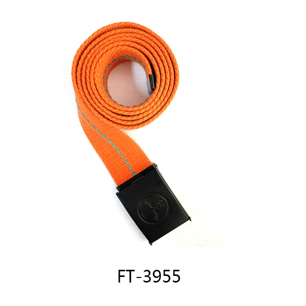 Orange canvas casual ribbon belts