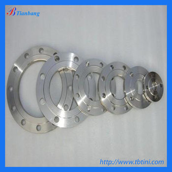 titanium gr2 large flange for oil & gas industry equipment components