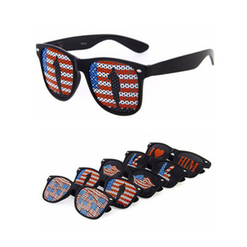 2015 cheap plastic pinhole custom sunglasses