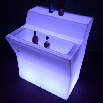 Waterproof plastic nightclub bar counter Led furniture display 16 colors LED bar counter
