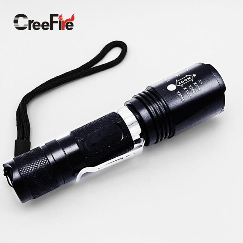 5 Modes High Quality Zoomable CreeFire-<strong>U2</strong> Super Bright <strong>LED</strong> Flashlight lanterna Penlight Torch light lantern
