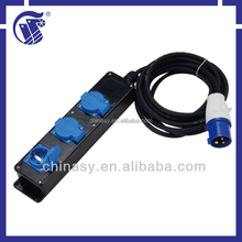 CE S 3 way extension lead socket IP44 wint CEE plug