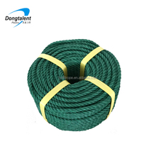 4 strand plastic recycle PE rope with very hard lay