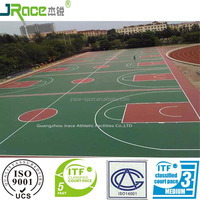 water base rubber floor for outdoor sport basketball court flooring