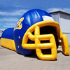 Outdoor advertising inflatable blue kids football helmet tunnel