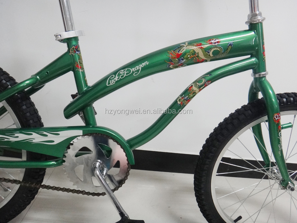 "20"" single speed beach cruiser bike in steel frame"