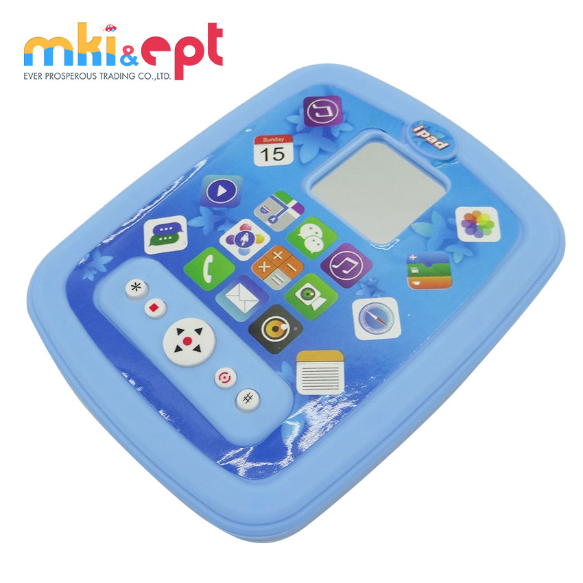 Promotional plastic toys for kids baby ipad learning with light and music  .jpg