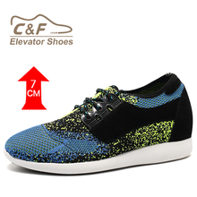 Breathable brand colorful air sport mesh shoes for men
