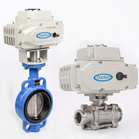 12v 24v 110v 220v stainless steel PVC motorized electric ball valve butterfly valve