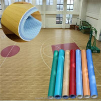 Popular Eco friendly indoor pvc vinyl wooden flooring for basketball