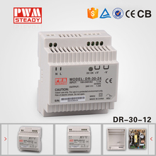 din rail DR-30-12 wall mount 115v to 12v dc power supply for leds,CCTV Camera