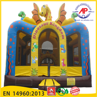 Dragon Inflatable Bouncer with obstacle inside