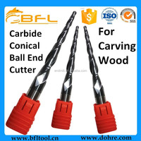 BFL CNC Wood Cutting Tools, Solid Carbide Conical Ball Endmills For WoodCutting Tools